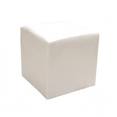 Location de pouf en simili cuir blanc à Paris pour création de coin Lounge