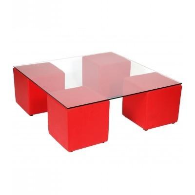 Location de Table basse XL rouge en ile de France