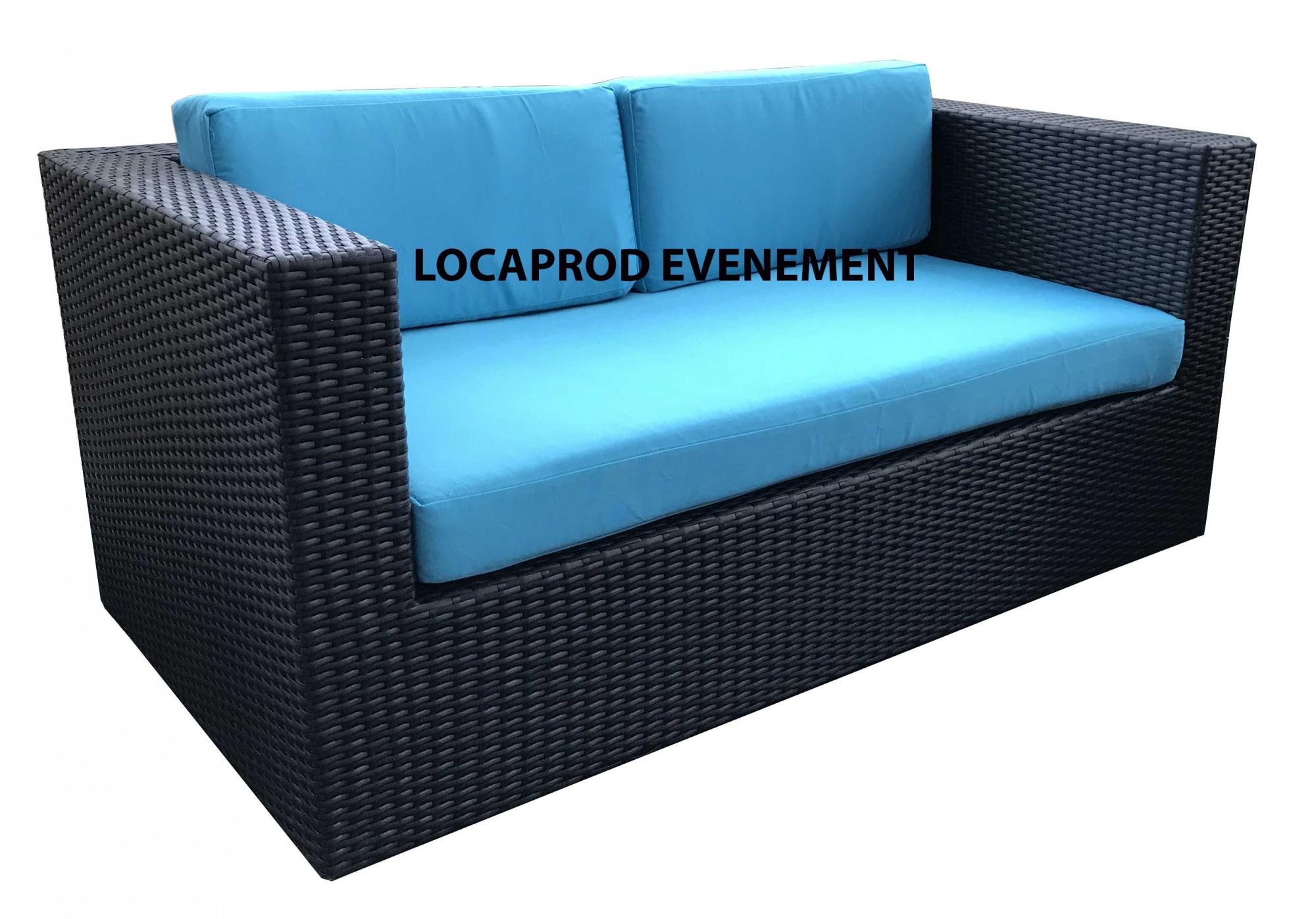 Location canapé résine bleu