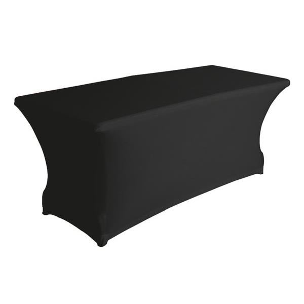 Location de table rectangulaire houss e noire location mobilier de r ception paris locaprod Location table rectangulaire