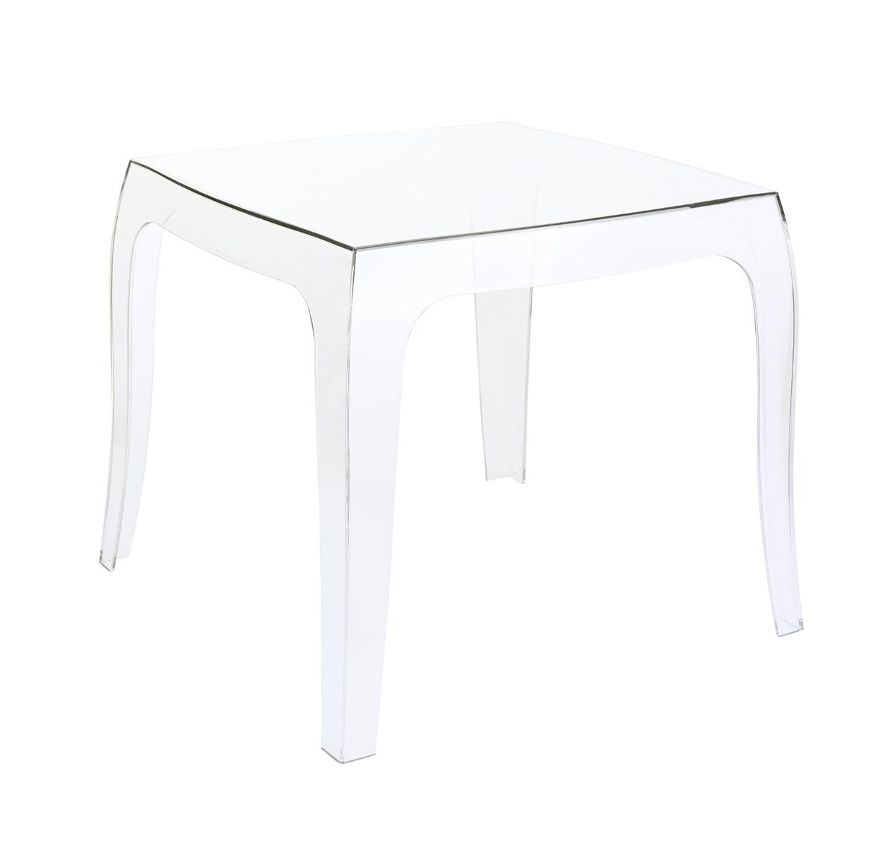 Location de table basse transparente polycarbonate en Ile de France