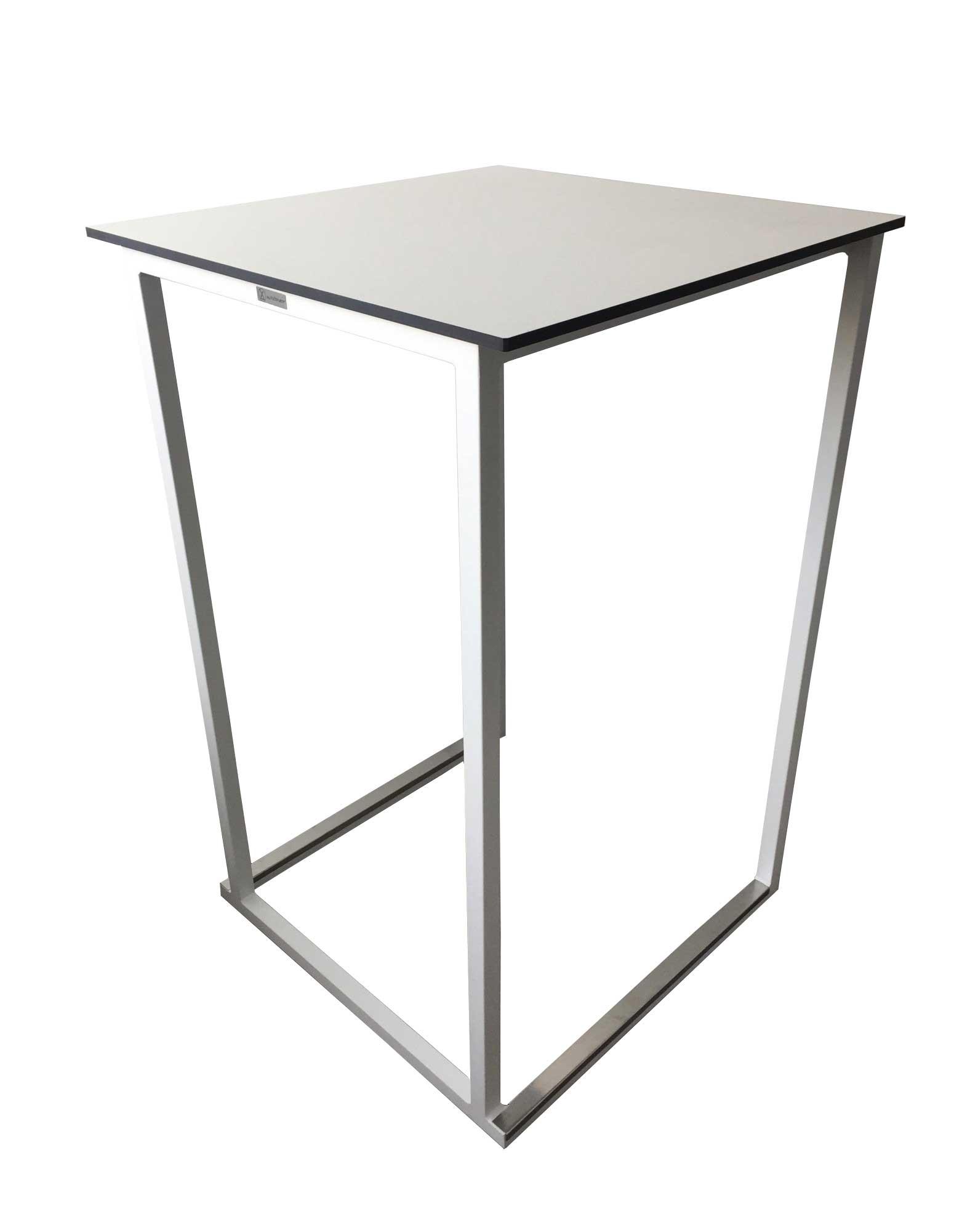 Location de table haute blanche