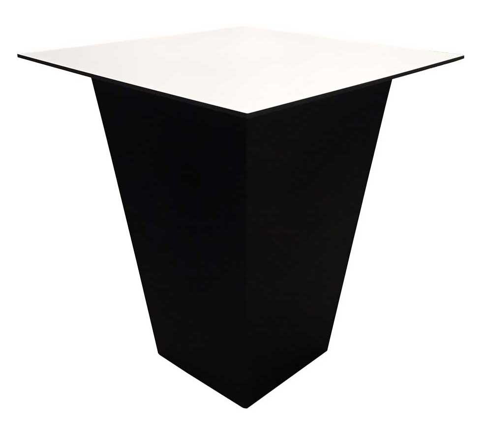 Location de table haute Conic noire à Paris