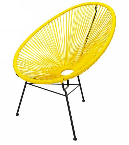 Location de fauteuil Ipanema panama jaune à Paris