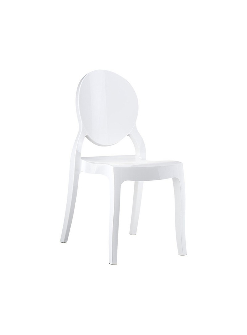 Location de chaise m daillon queen blanche location mobilier de r ception par - Chaise medaillon transparente ...