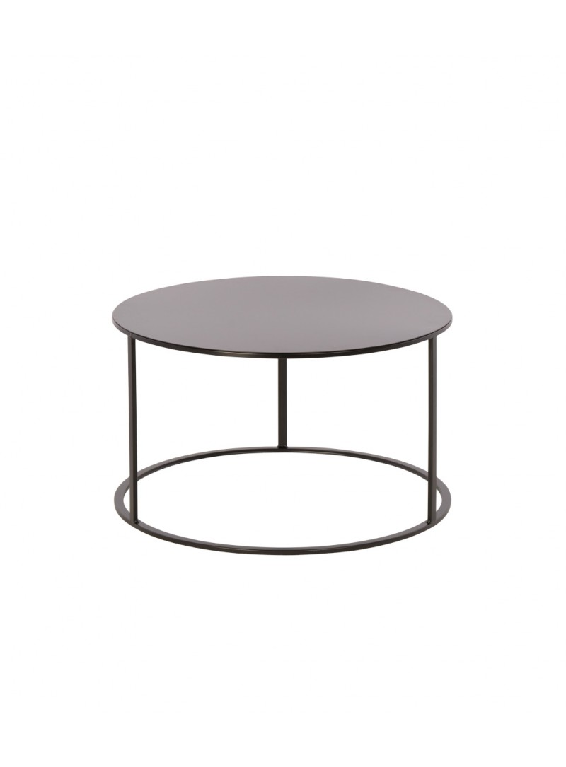 Location de table basse ronde noire design en Ile de France