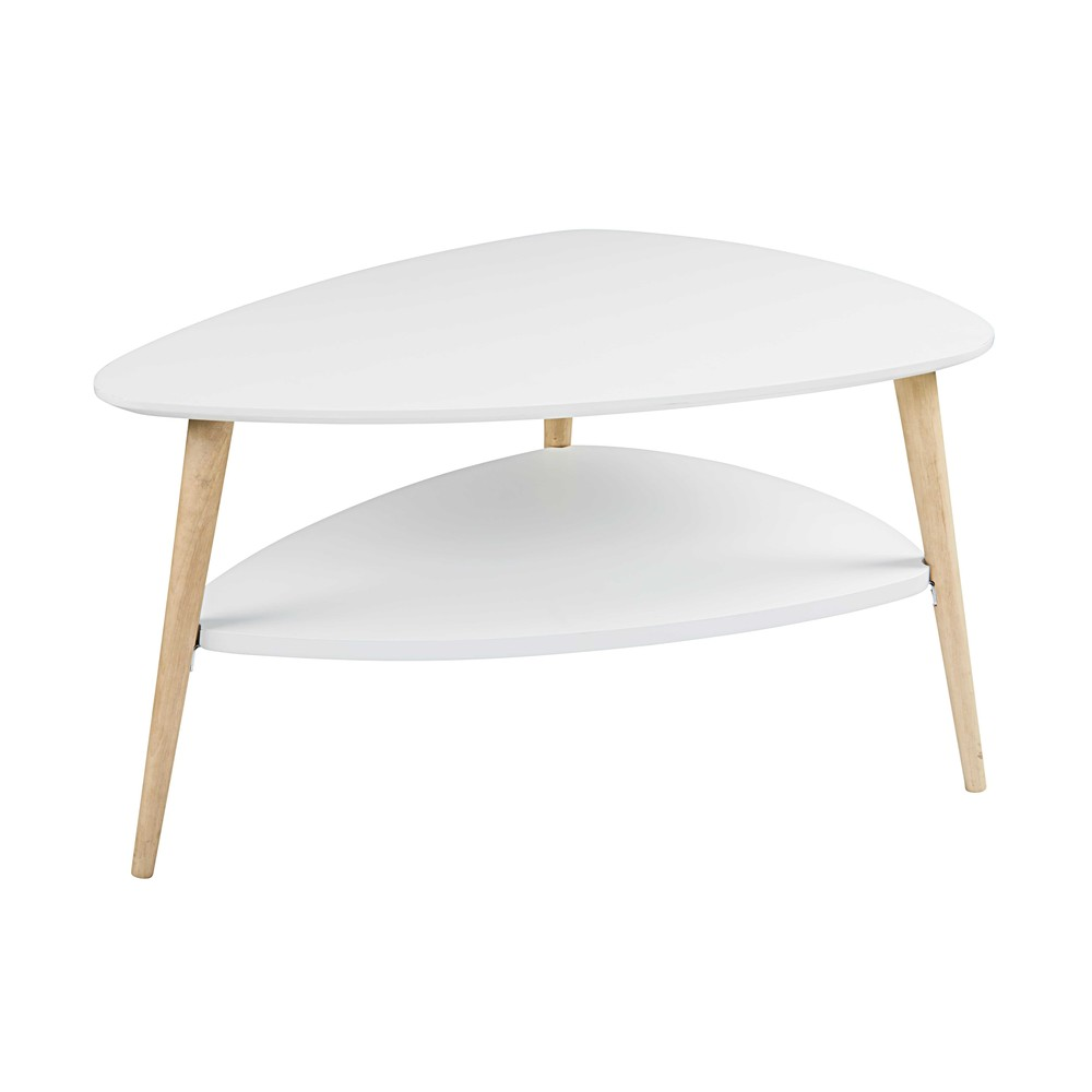 Location de table basse Scandinave Copenhague Blanche à Paris