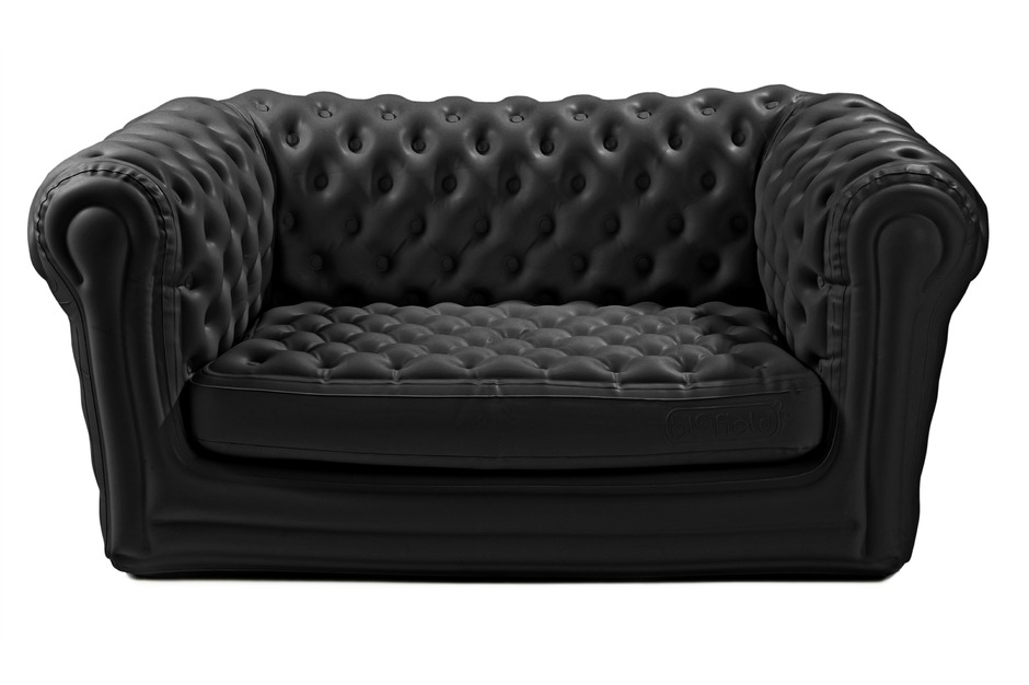 Location de canap chesterfield gonflable noir location for Canape gonflable