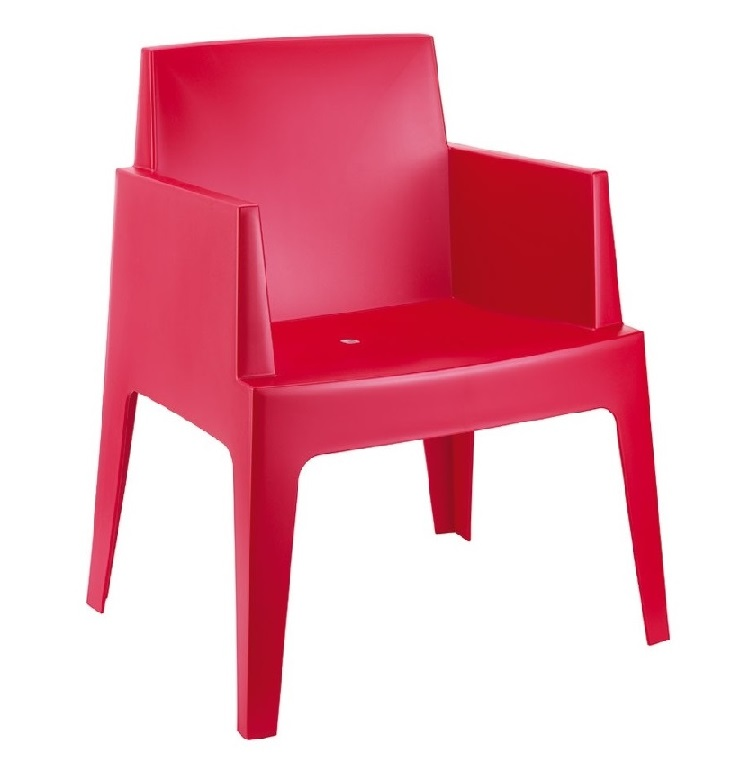 Location de fauteuil de jardin design rouge en Ile de France