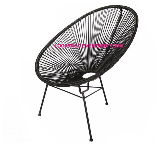 Location de fauteuil noir Ipanema à Paris