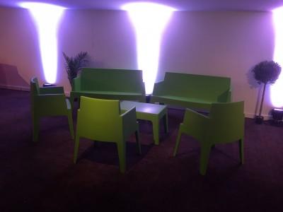 Location de fauteuil design vert en Ile de France