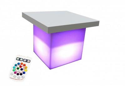 Location de table lumineuse pour création d'espace lounge à Paris