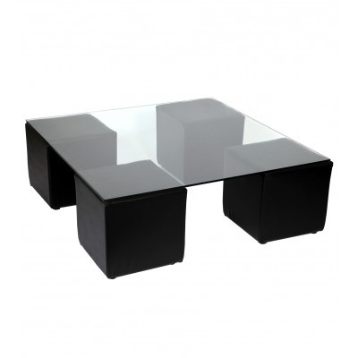 Location de table basse Noire pour espace Lounge VIP