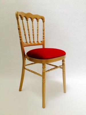 Location de chaise napoléon dorée / bordeaux à Paris