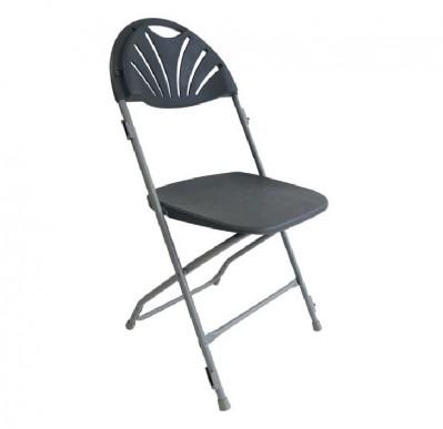Location de chaise pliante grise pour conférence à Paris