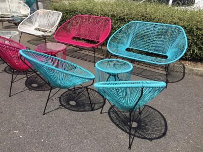 Location de fauteuil Ipanema Panama bleu à Paris