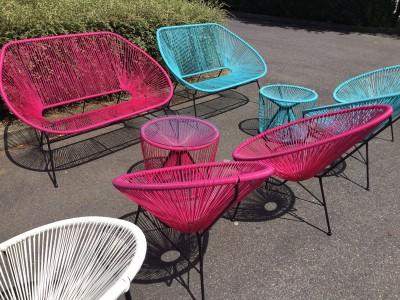 Location de fauteuil Ipanema Panama rose en Ile de France