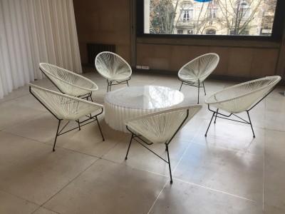 Location de fauteuil Ipanema Panama blanc en Ile de France