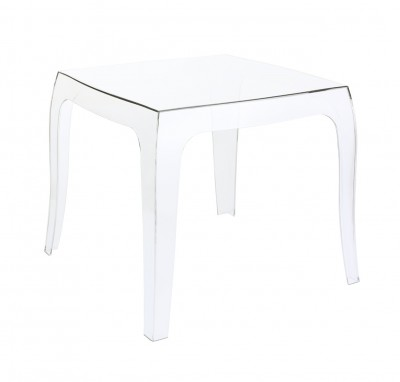 Location de table basse transparente polycarbonate en Ile de France