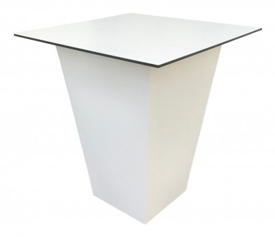 Location de table haute CONIC blanche plateau Blanc
