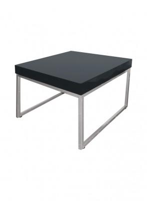 Location de table basse lounge design noire à Paris
