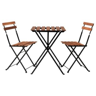 Table et chaise de jardin en bois Sherwood à la location en Ile de France