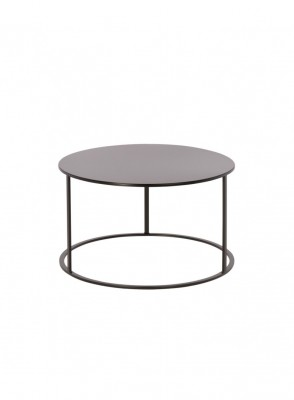 Location de table basse ronde noire design en Ile de France