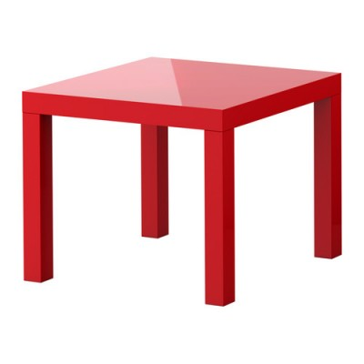 Location de table basse rouge à Paris