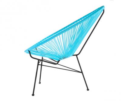 Location de fauteuil PANAMA design bleu à Paris