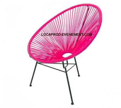 Location de fauteuil vintage rose en Ile de France