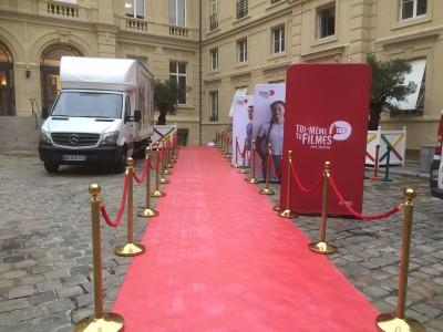 Installation de Tapis rouge à Paris