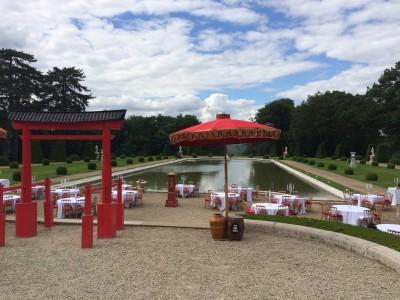 Installation de tables et chaises napoléon dans l'Oise