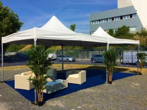 Tente pliable 4x4m en location en région parisienne et à Paris 75