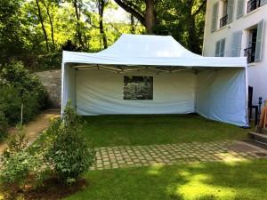 ou trouver à la location une tente pliante blanche en région parisienne