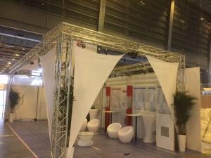 gril structure métallique pour stand d'exposition à Paris 75