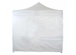 Bâche de côté Plein 4m pour tente pliante (Blanc ou Noir)